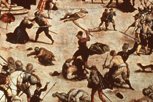 Massacre de la Saint-Barthélemy: assassinat des protestants le 24août 1572