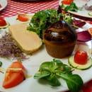La Calabria  - Foie gras de canard au Macvin du Jura cuit maison au torchon et sa petite brioche tiède maison -