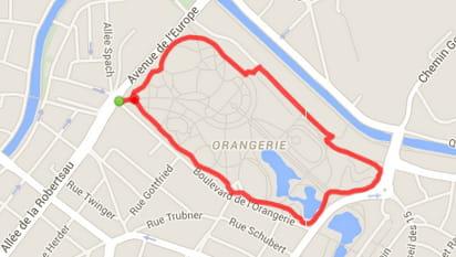 Strasbourg  : le parc de l'Orangerie (2,2km)