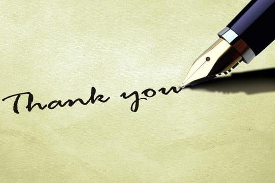 Lettre de remerciement suite à l'acceptation d'une demande