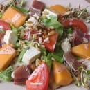 The Placeto Eat  - salade mesclun jambon melon -