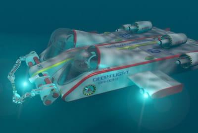 avec ce surbmersible, il est possible d'explorer le monde méconnu des abysses.