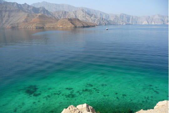 Les dégradés de couleur du fjord Musandam