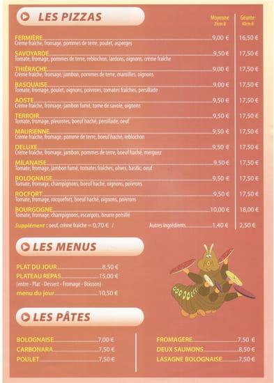 Pizza Delis  - Carte page 3 -   © PositivePC