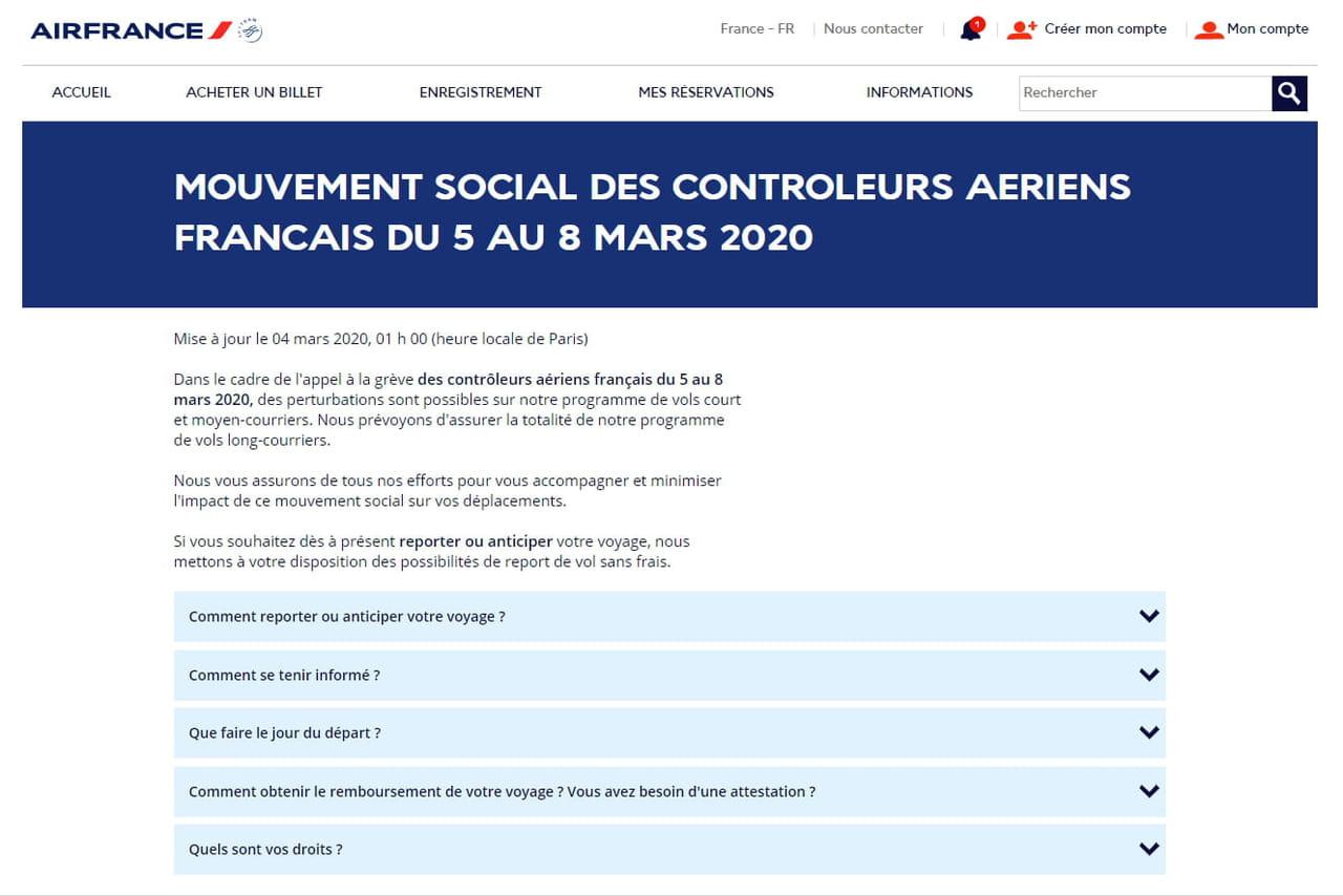 Grève contrôleurs aériens: Air France, Easyjet, les perturbations du 5mars 2020