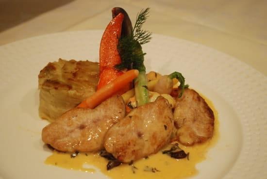 Restaurant L'Arche de Meslay  - Noix de Ris de Veau et Homard, Beurre de Verveine -