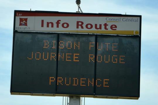 Bison Futé: samedi rouge avant le week-end du 10au 14juillet! Toutes les infos