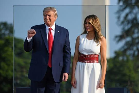 """4juillet: Trump dénonce """"la gauche radicale"""", les médias, la Chine"""