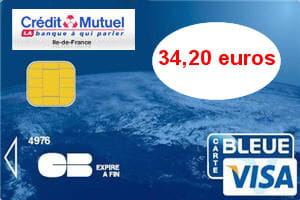 la carte visa du crédit mutuel est facturée 40euros en débit différé.