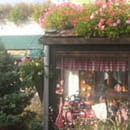Chez Gaston au Petit Pavé  - terrasse fleurie -   © moi meme