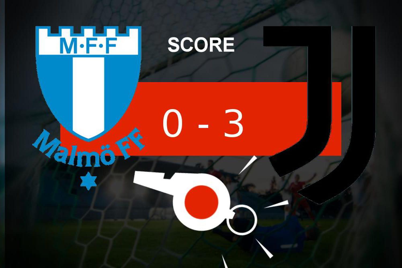 Malmö - Juventus: série de buts pour la Juventus Turin (0- 3), ce qu'il faut retenir