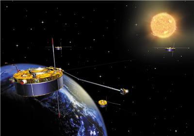 cluster ii étudie les particules autour de la terre.