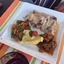 Plat : Le Bagatelle  - Dos de canard au poivre vert et framboises:) -