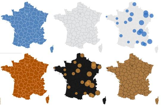 CARTE COVID. La situation en France par ville et département