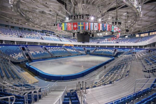 La patinoire du centre Iceberg