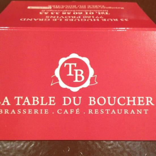 Restaurant : La Table du Boucher