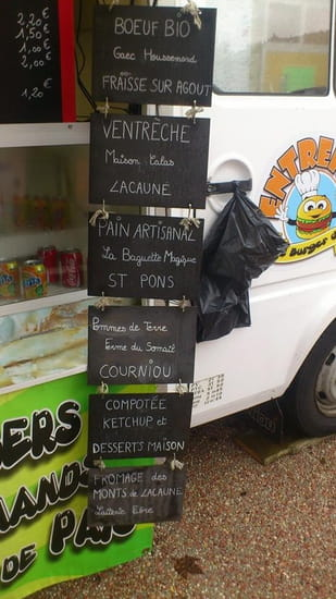 L'Entrepan, le Burger d'Ici  - La carte  -   © séverine salvador