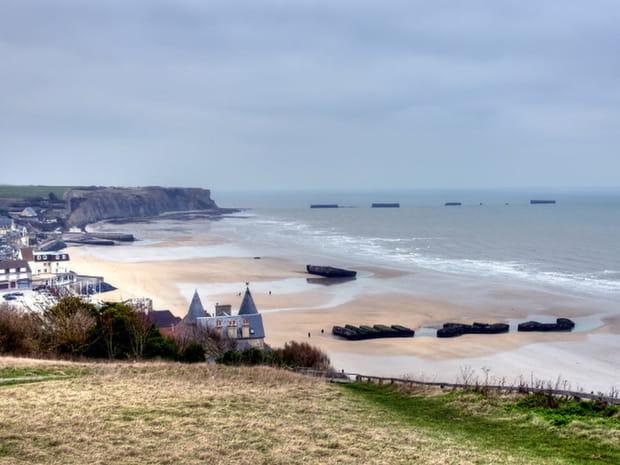 Les plages et lieux du débarquement en images, 75ans après