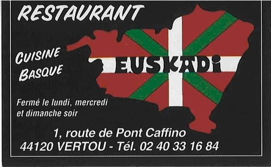 Euskadi  - La Carte du Restaurant -   © Moi