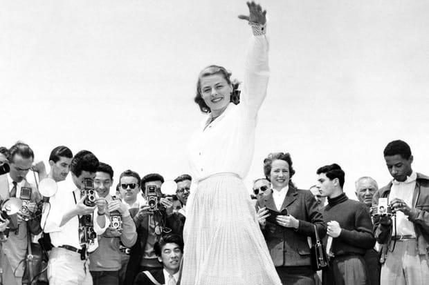Ingrid Bergman à Cannes en 1956