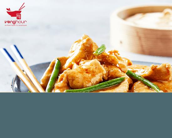 Plat : Veng Hour - Nancy Houdemont  - Poulet curry à Nancy Houdemont Cora 54 meilleures recettes asiatique à emporter, sur place et livraison déjeuner et diner poulet hallal traiteur VengHour -   © Veng Hour