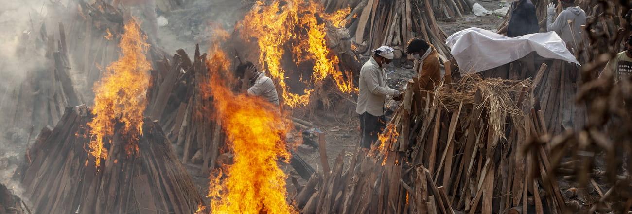 EN IMAGES - Le chaos du Covid en Inde