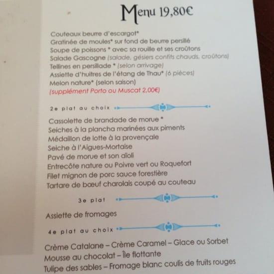 Restaurant : Restaurant des Voyageurs  - Menu a 19€80 -