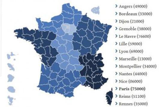 Résultat élection européenne : la carte de France des résultats