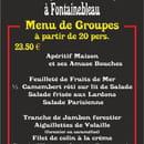 Le Chalet de la Caverne des Brigand  - Menu de groupes à 23.520 € -