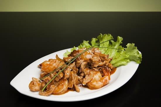 Tamtam Saigon  - TAM TAM SAIGON - restaurant Vietnamien Bordeaux - Crevettes et porc sauce mystère -   © Square Eyes Picture