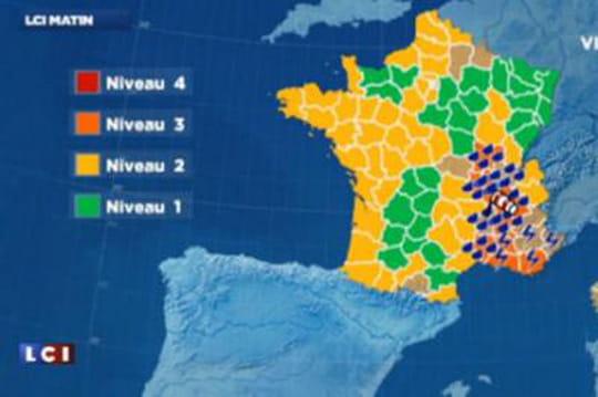 Prévisions météo: moins devent cemardi 4novembre (Ardèche, Rhône, Bouches-du-Rhône, Alpes-Maritimes)