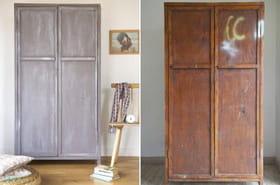 Avant/après : une armoire relookée avec un effet patiné