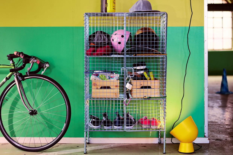 un meuble de rangement m tallique. Black Bedroom Furniture Sets. Home Design Ideas