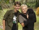 Muriel Robin et Chanee sur la terre des bonobos
