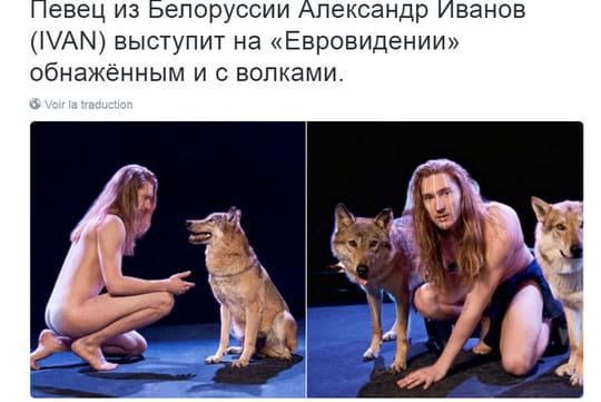 Eurovision 2016 : un chanteur nu sur scène avec des loups ! [PHOTOS]