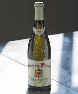 clos des papes, châteauneuf-du-pape blanc, 2009.
