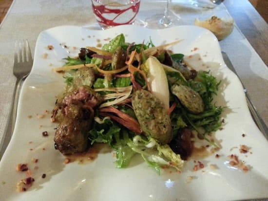 Entrée : L'Amaranthe  - Salade de boudin gris assaisonement thaï -