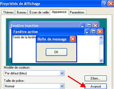changer taille police windows 10