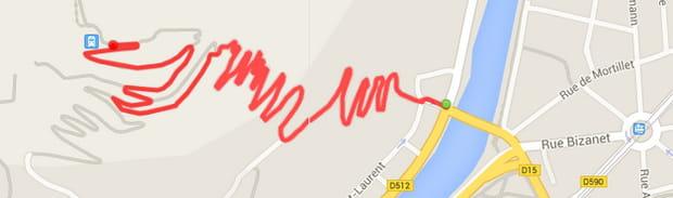 Grenoble : la montée de la Bastille (2,6km)