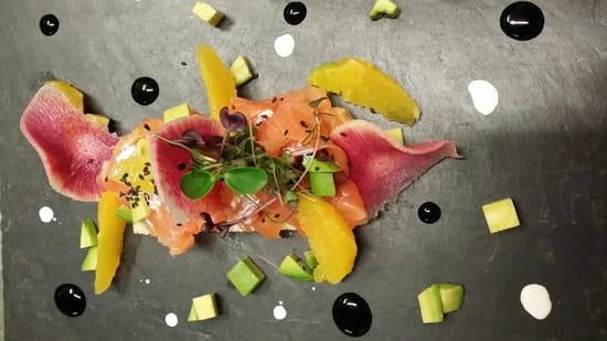 Plat : La Petite Auberge  - Bruschetta au saumon fumé -