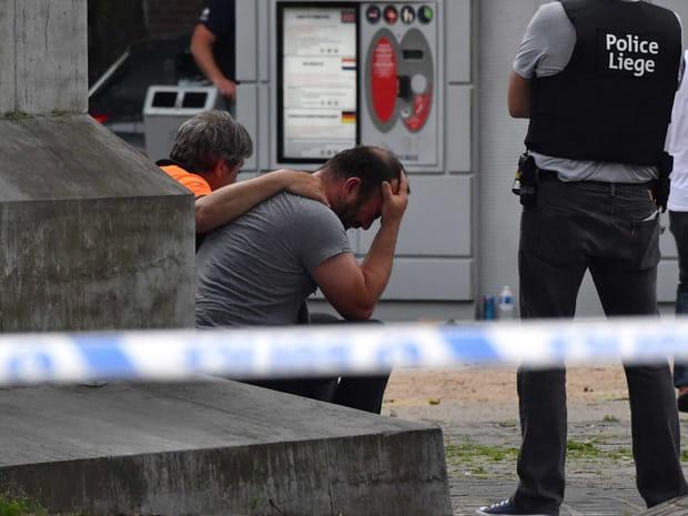 Attaque à Liège: les images sur place