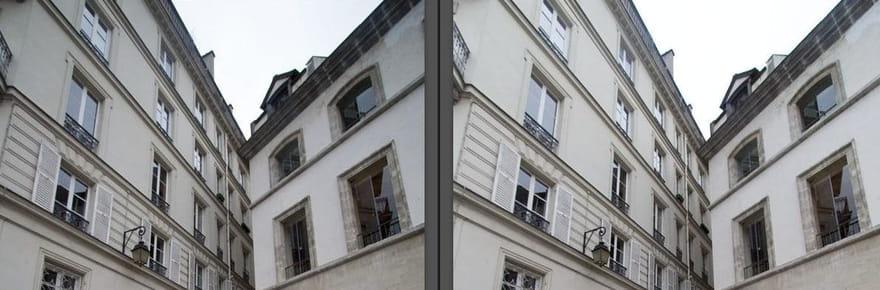 Comment corriger la perspective d'un bâtiment?