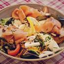 Plat : Crêperie L'Épi de Blé - Rennes  - Salade nordique au saumon fumé -   © -