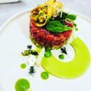 Plat : Le V  - La nouvelle carte 2018 -   © Restaurant le V