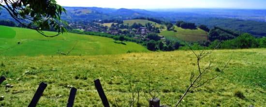 Bistrot du Camp de César  - Vue sur le village de Plan en Isère -