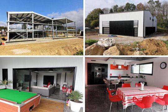 construction d 39 une maison loft dans un hangar. Black Bedroom Furniture Sets. Home Design Ideas