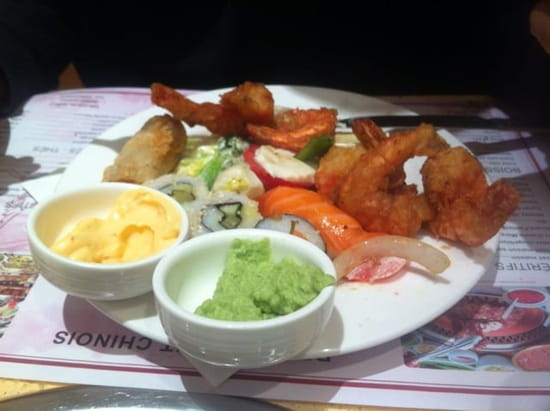 Entrée : A la Cigogne  - Beignet de crevettes, wasabi... -