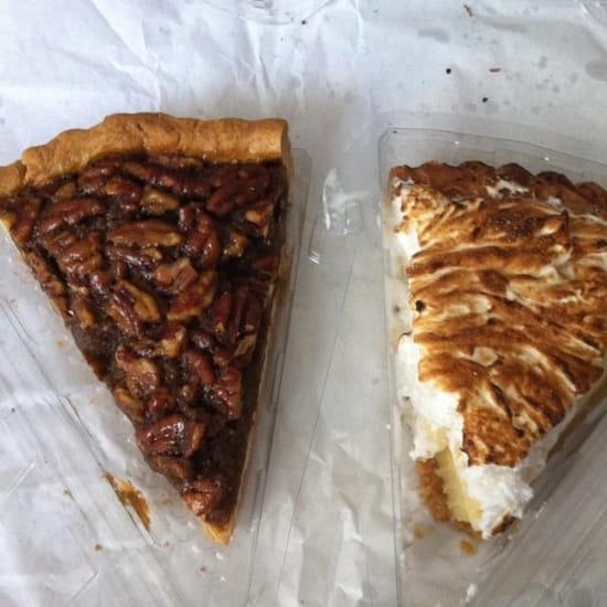 Dessert : Freddie's Deli  - Tarte aux noix de pécan et tarte au citron vert  -