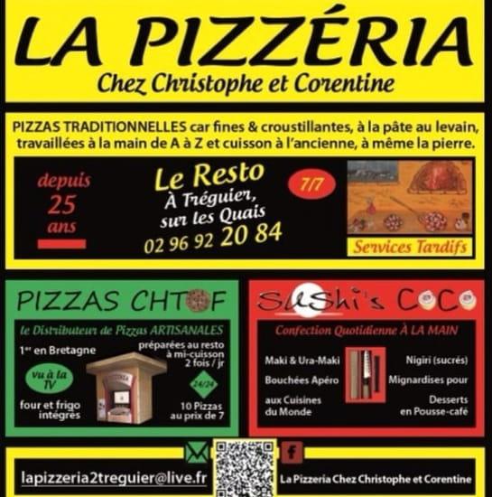 Restaurant : La Pizzeria  - carte de visite -