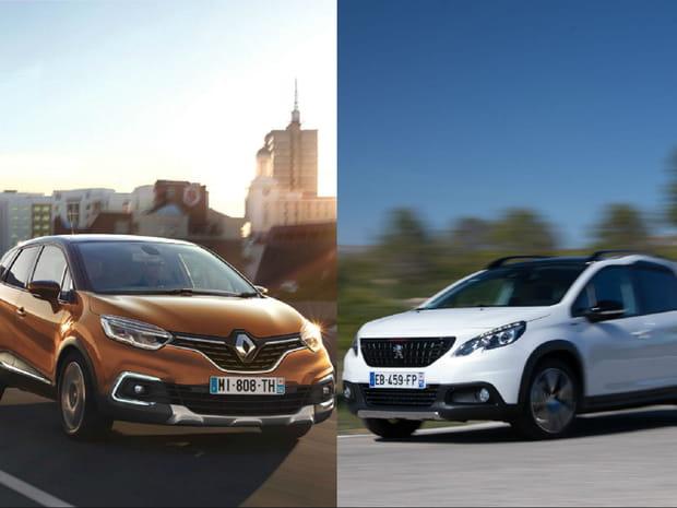 Peugeot 2008restylé ou Renault Captur restylé: lequel choisir? Notre comparatif